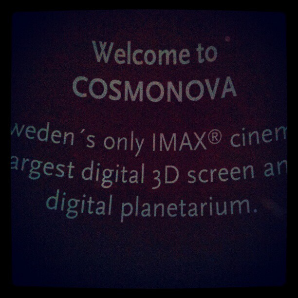 Thank you very much. #IMAX #Cosmonova