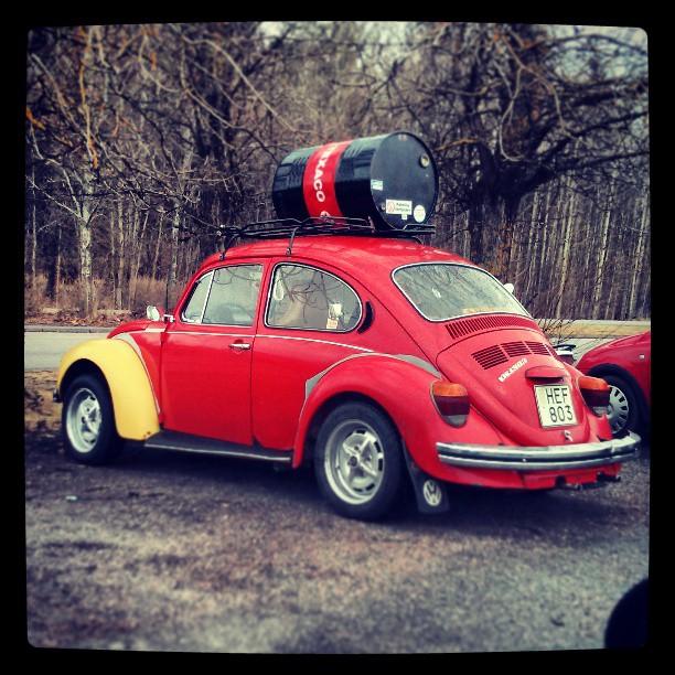 Det här går det säkert att göra ett roligt skämt på. #VW #Beetle #Texaco