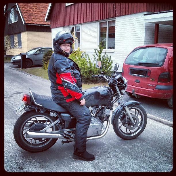 Gött. Dock var det rätt blåsigt idag. #Yamaha #TR1