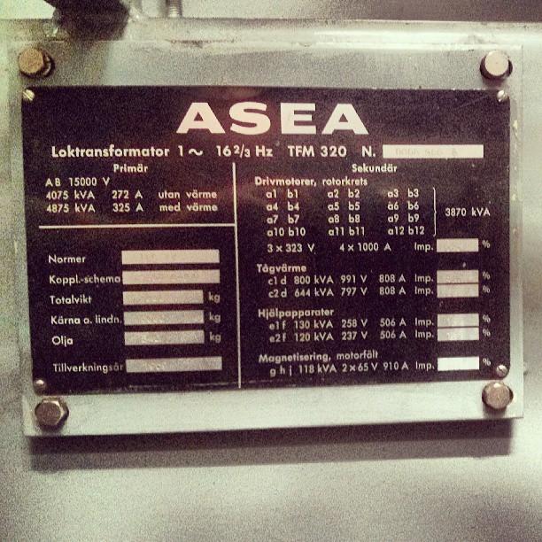 #ASEA #Loktransformator #locomotive