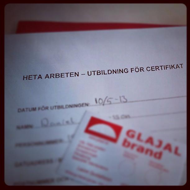 #utbildning #certificat
