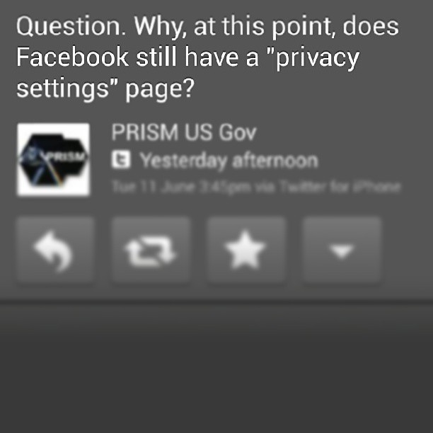 #Facebook #PRISM