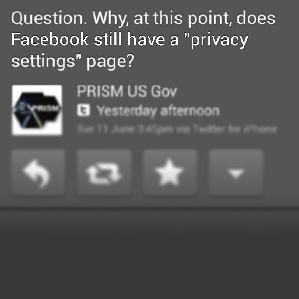 #Facebook #PRISM