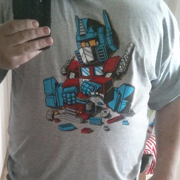 Ny t-shirt! #qwertee #OptimusPrime #Lego