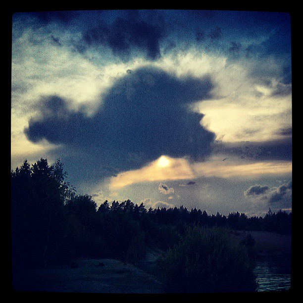 #Clouds, #Forrest and a #Sun