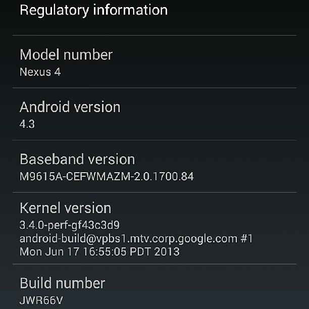 It has been done. #Android #Nexus4 #Update