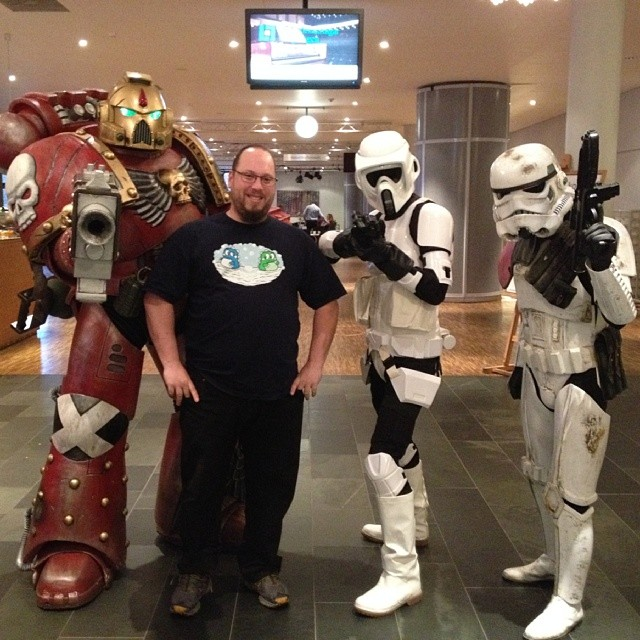 Me and the gang. #Spacemarine #Bikerscout #Stormtrooper #BubbleBobble
