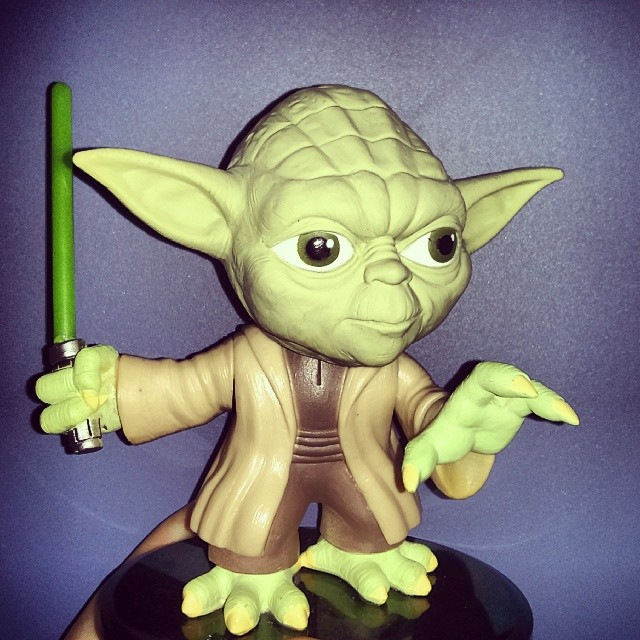A #Yoda bobble head from my girlfriend @slappo75, I did get.