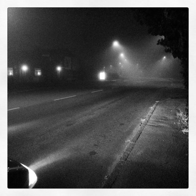 Tidigt, mörkt och dimmigt. #m0rrn