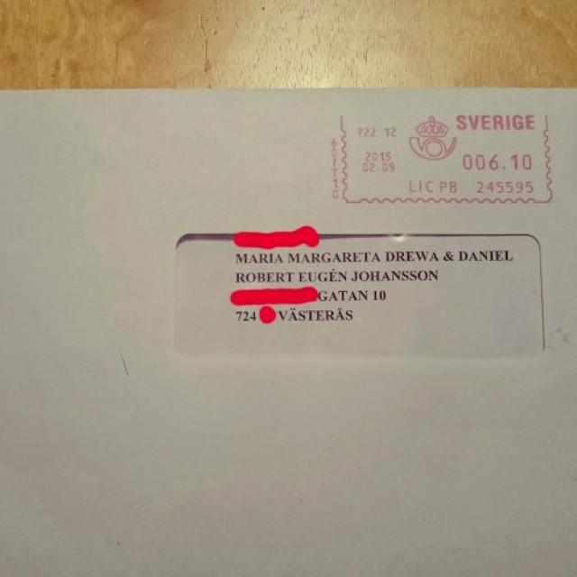S� h�r m�nga namn tror jag inte n�gonsin har sett p� ett brev.