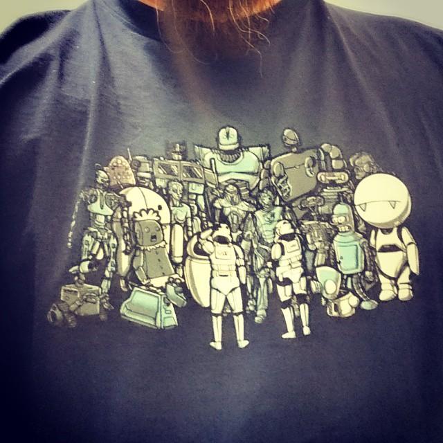 Dagens T-shirt #WeAreTheRobots #Teefury