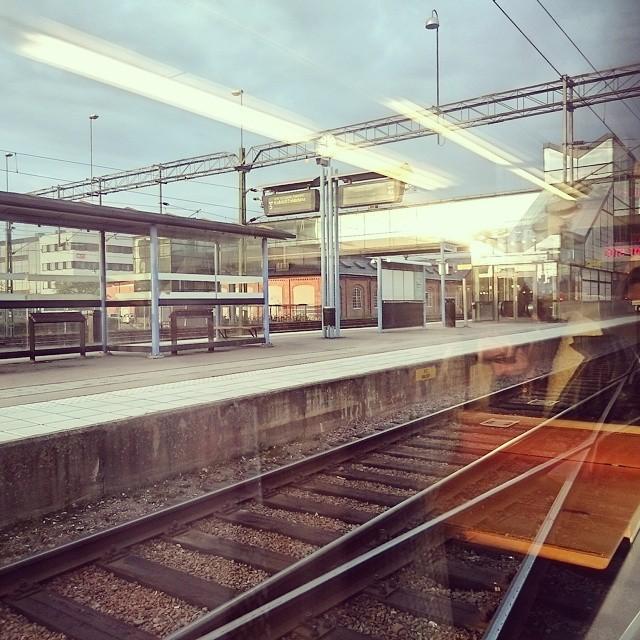 Dagens Västerås station-poetiska bild.