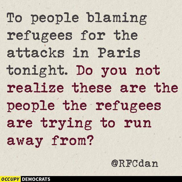 #refugees #prayforparis #parisattacks